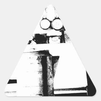 Pote do café adesivo triangular