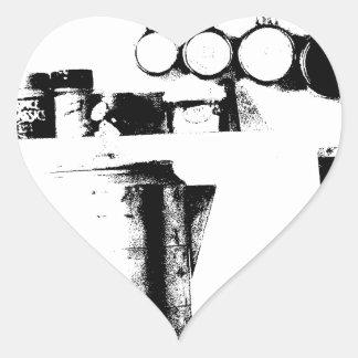 Pote do café adesivo em forma de coração