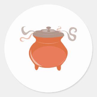 Pote do pimentão adesivo em formato redondo
