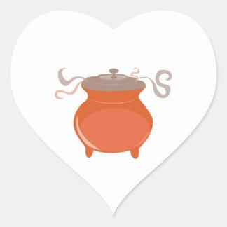 Pote do pimentão adesivo de coração