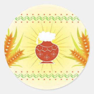 Pote e trigo de Pongal Adesivo