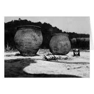 Potes de argila antigos, México do sul Cartão