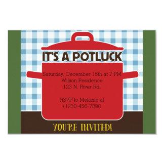 Potluck Convite 8.89 X 12.7cm