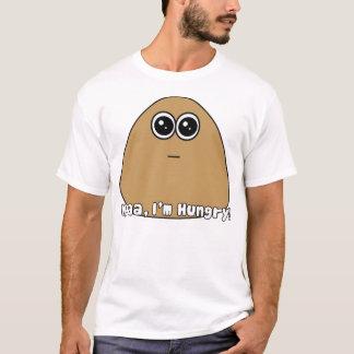 Pou com fome com texto camiseta