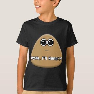Pou com fome com texto tshirt