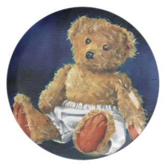 Pouca bolota, um ursinho favorito pratos de festas