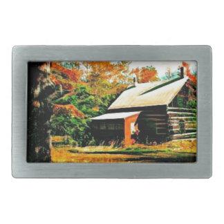Pouca cabana rústica de madeira na arte das