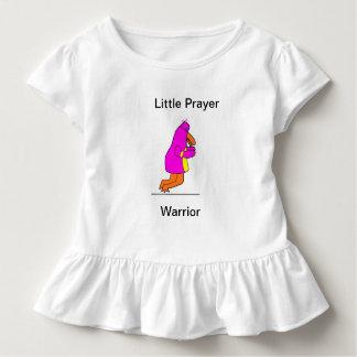 Pouca camiseta do guerreiro da oração para meninas