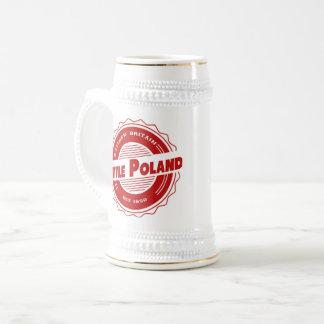 Pouca caneca de cerveja da cerveja do Polônia
