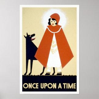 Pouca capa de equitação vermelha, 1936. Arte do Poster