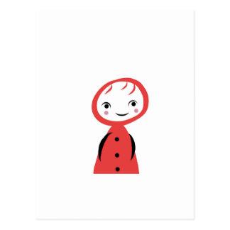 Pouca capa de equitação vermelha cartao postal