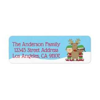Pouca etiqueta de endereço do remetente de Elfs do