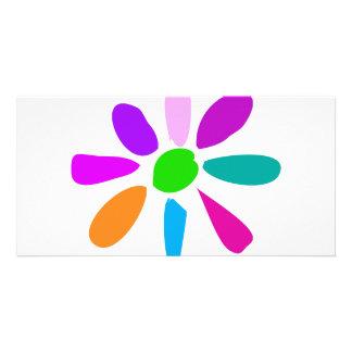 Pouca flor cartão com foto