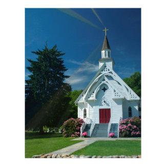 Pouca igreja branca papel de carta
