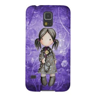 Pouca menina do gótico com a caixa da galáxia S5 Capinhas Galaxy S5