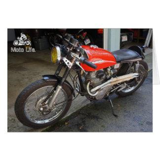 Pouca motocicleta vermelha, em a vida de Moto Cartão Comemorativo