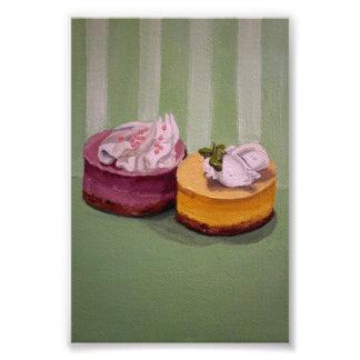 Pouca pintura do bolo de queijo impressão de foto