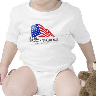 Pouco americano macacãozinho para bebês