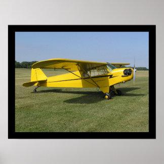 Pouco avião amarelo pôster