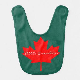 Pouco babador vermelho canadense do bebê    da