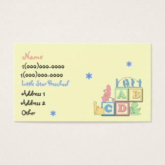 Pouco cartão de visita do pré-escolar da estrela