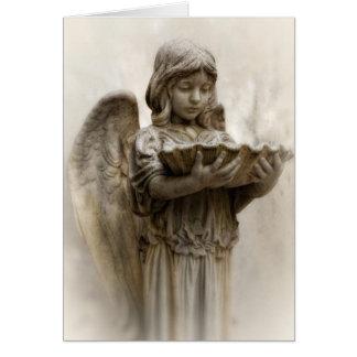 Pouco cartão do Anjo-Vazio