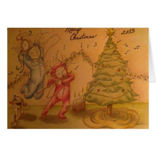 Pouco cartão dos músicos do Natal