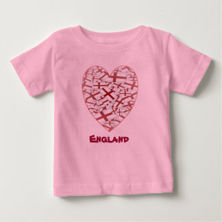 Pouco design da bandeira do fã de Inglaterra - Camiseta Para Bebê