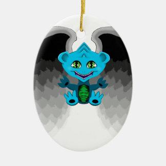 Pouco dragão com asas ornamento de cerâmica