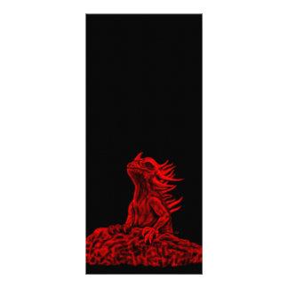 Pouco dragão vermelho 10.16 x 22.86cm panfleto