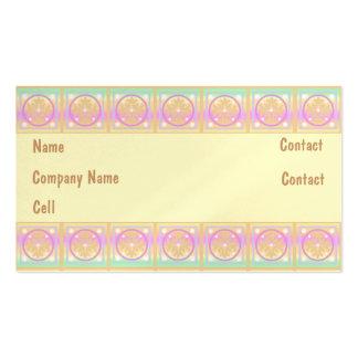 Pouco estilo do teste padrão da caixa cartões de visita