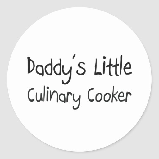 Pouco fogão culinário do pai adesivo redondo
