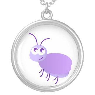 Pouco inseto colar com pendente redondo