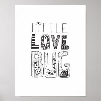 Pouco inseto do amor - poster da arte do berçário