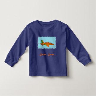 Pouco plano de jato camiseta infantil