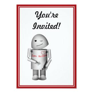 Pouco Robo-x9 a máquina do amor Convite Personalizado