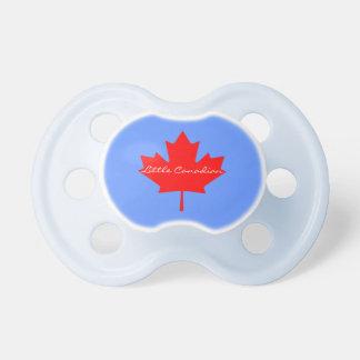 Pouco soother vermelho canadense do bebê da folha chupeta