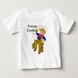 Pouco vaqueiro do vintage camiseta para bebê