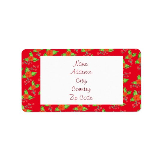 Pouco vermelho corajoso etiqueta florescida etiqueta de endereço