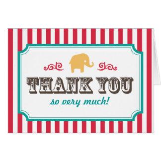 Poucos cartões de agradecimentos do chá de fraldas