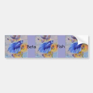 Poucos peixes azuis de Betta Adesivo Para Carro