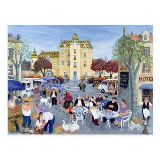 Praça da cidade em Borgonha Cartão Postal
