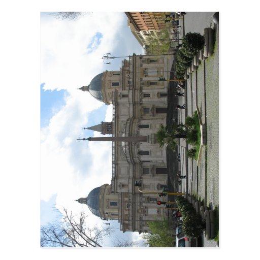Praça Esquilino da descrição sumária com basílica Cartões Postais