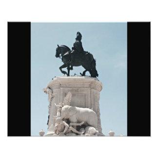 Praça faz a estátua de Comércio Impressão De Foto