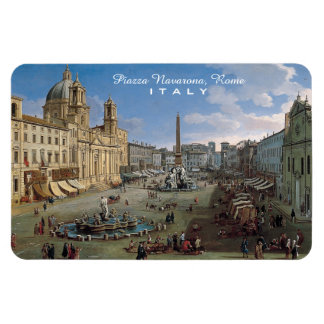 Praça Navona, ímã feito sob encomenda da arte de