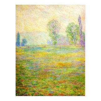 Prados de Monet no cartão de Giverny Cartão Postal