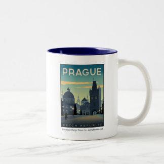 Praga, república checa caneca de café em dois tons