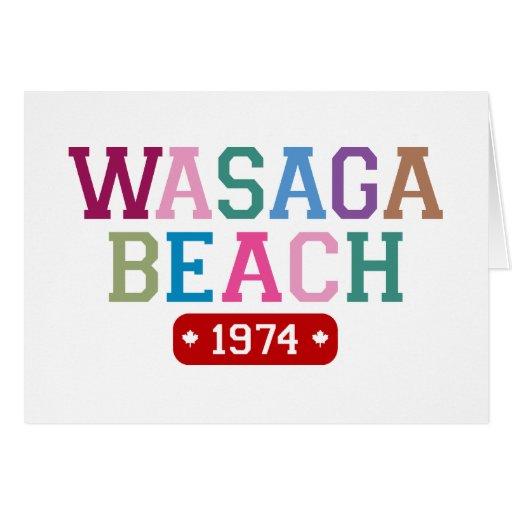 Praia 1974 de Wasaga Cartões