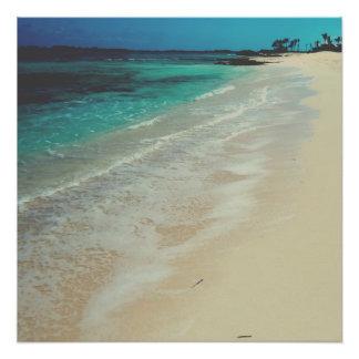 Praia calma poster perfeito