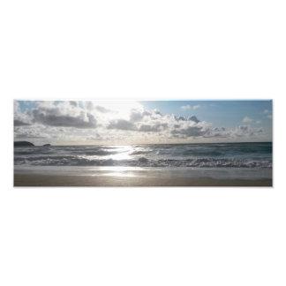Praia clara Newquay Cornualha Reino Unido de Impressão De Foto